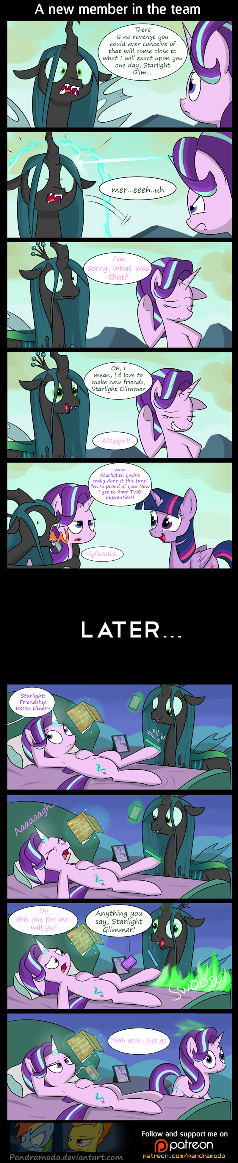 starlight glimmer twilight sparkle every little thing she does chrysalis comic to where and back again changelings - 8986222592