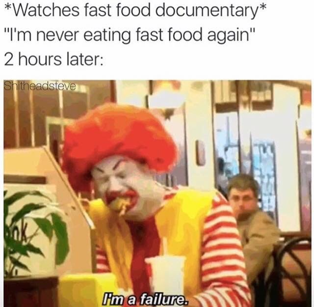 disappointed fast food image - 8986344192