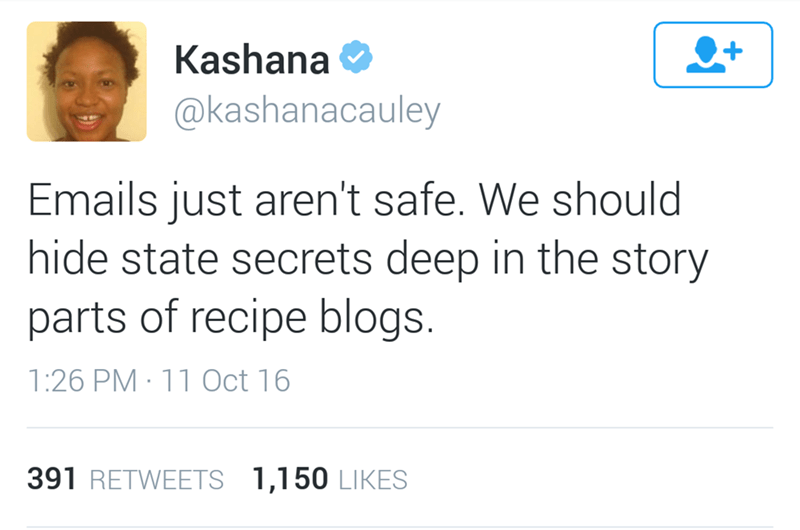 funny twitter image email aren't safe only the story section of recipe blogs are