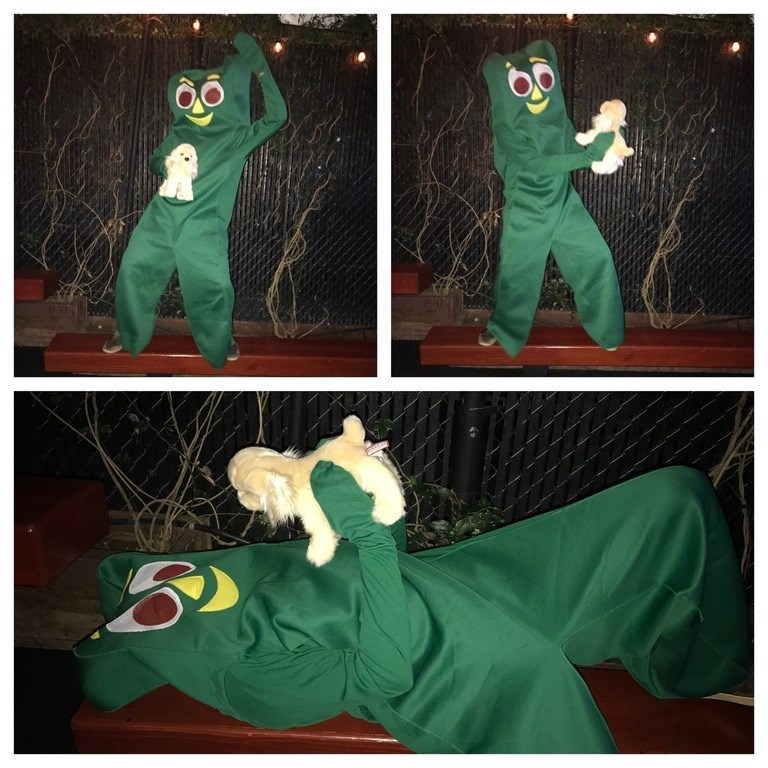 halloween gumby costume Someone Dressed up as a Viral Video