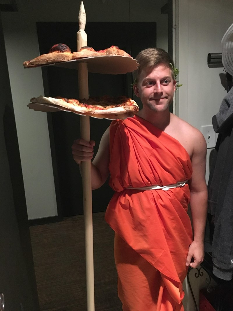 halloween pizza costume When You're Supposed to Bring Snacks to the Halloween Party So You Dress as Little Ceasar