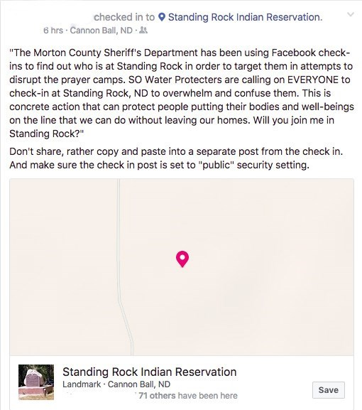 facebook protest native americans morton county sheriffs department viral
