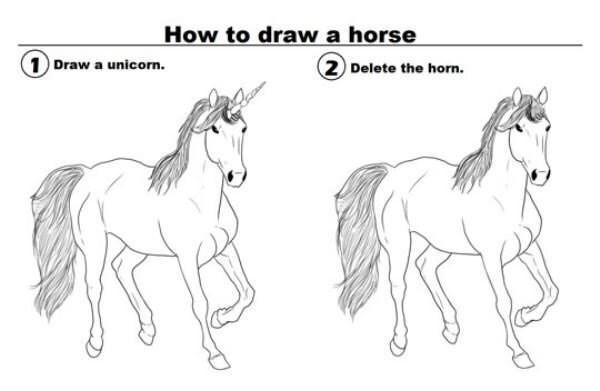 drawing horse image - 8986710528