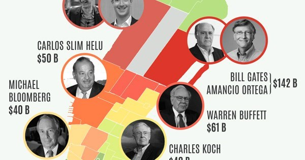 infographic richest people split new york city