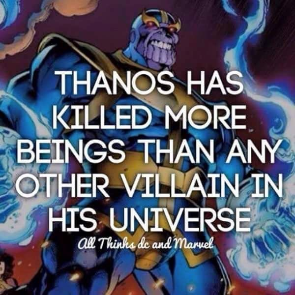 Hero - THANOS HAS KILLED MORE BEINGS THAN ANY OTHER VILLAIN IN HIS UNIVERSE al Thinhe de and manuel