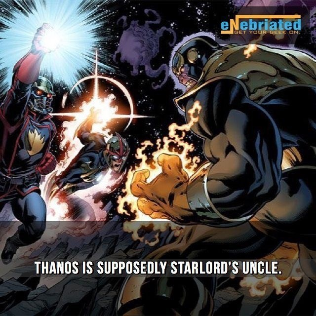 Fictional character - eNebriated GET YOUR GEEK ON THANOS IS SUPPOSEDLY STARLORD'S UNCLE