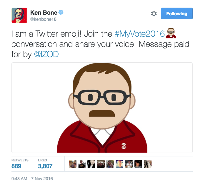 izod made ken bone a twitter emoji for the election