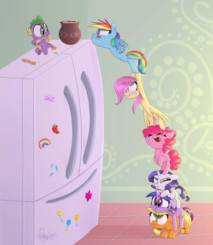 spike applejack twilight sparkle pinkie pie rarity fluttershy rainbow dash filly - 8988693760