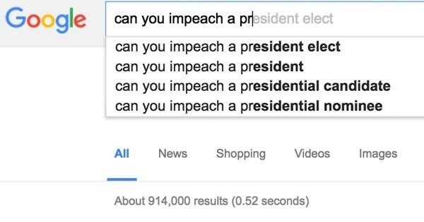 googling how to impeach a president surges