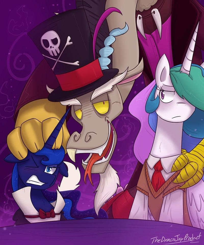 discord the princess and the frog princess luna ponify princess celestia - 8988925696