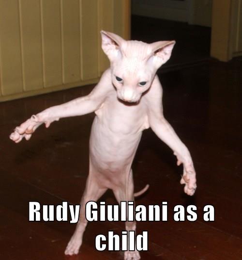 Rudy Giuliani as a child