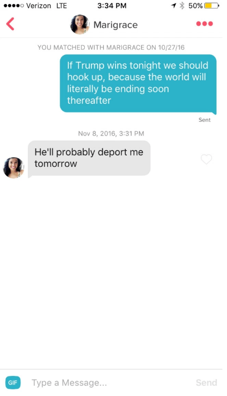 Trump meme about dating someone about to be deported