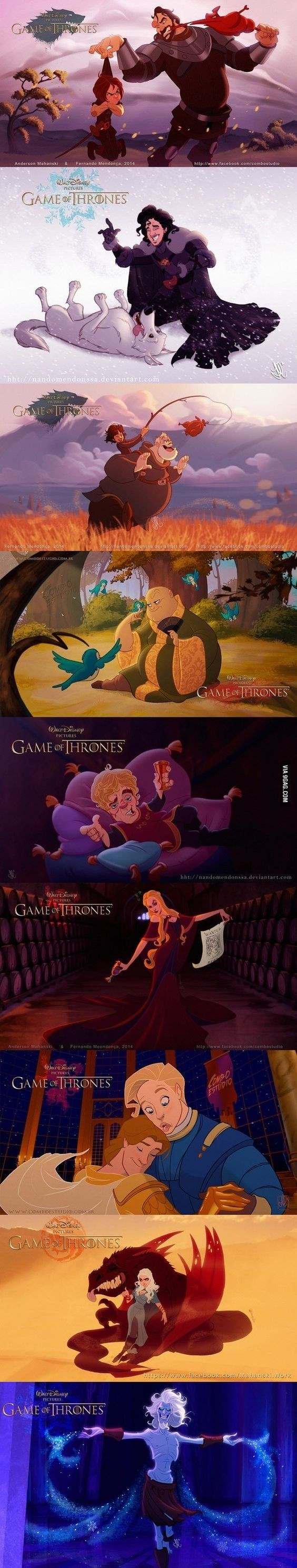 Game of Disney - Game of Thrones Characters re-imagined as Disney Characters.