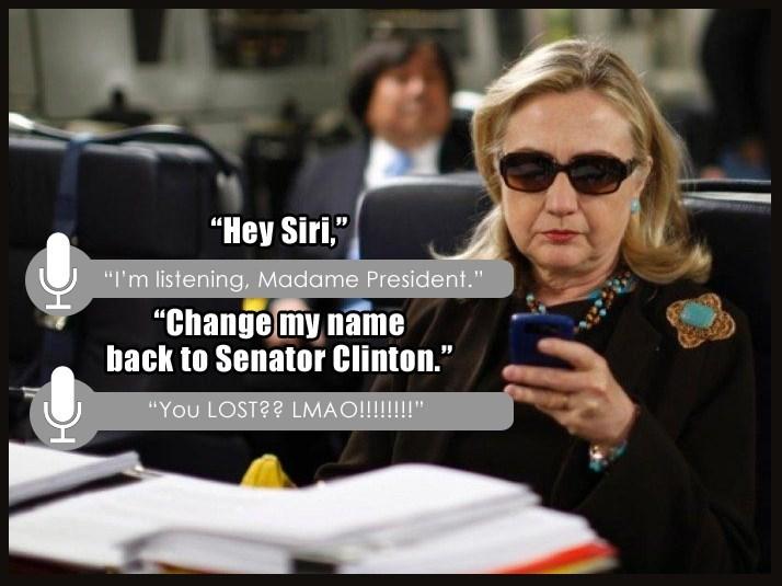 siri Hillary Clinton image - 8989248512