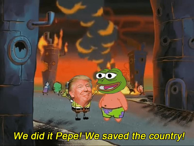 donald trump,SpongeBob SquarePants,Memes