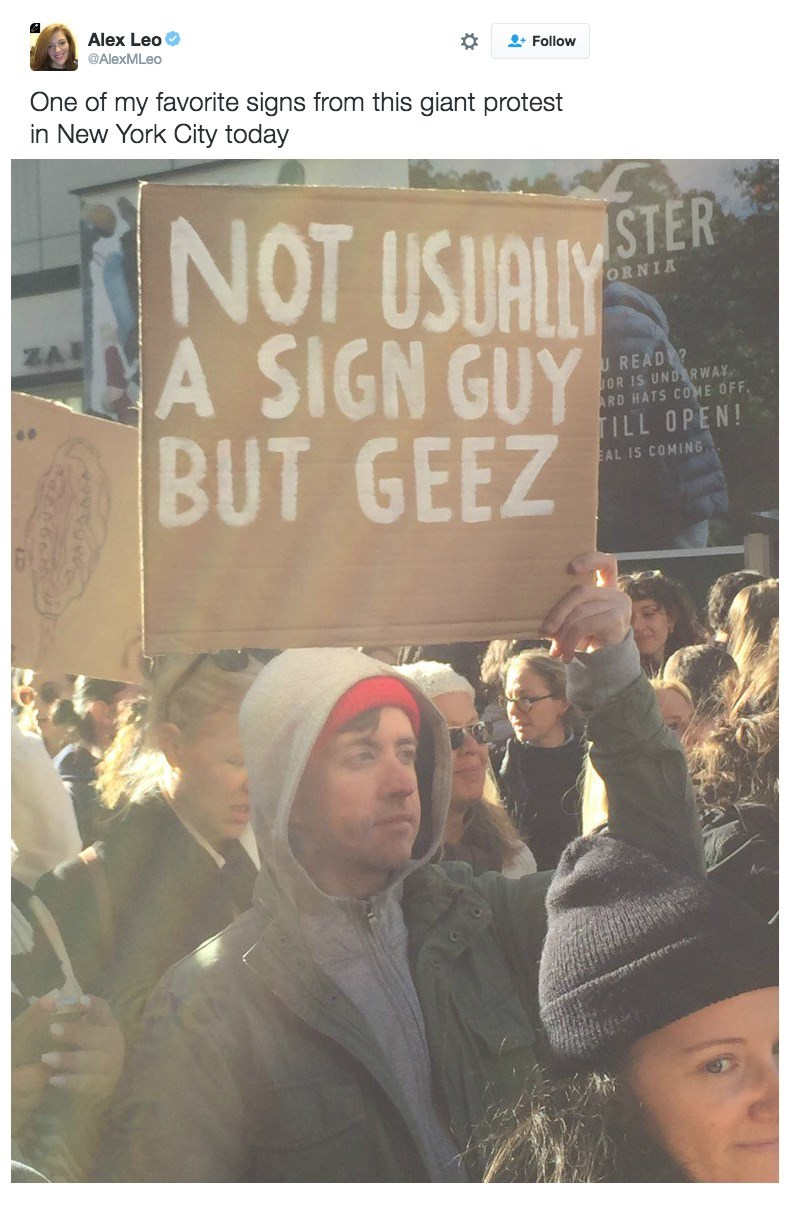 image politics signs This Guy and His Sign Sum up How Most People Feel About 2016 in General