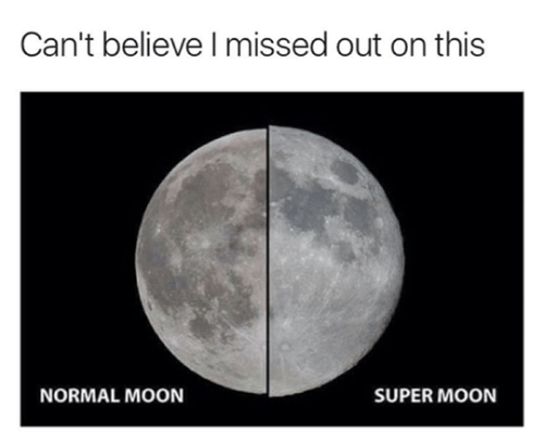 image super moon Won't See That For Another 75 Years, at Least!