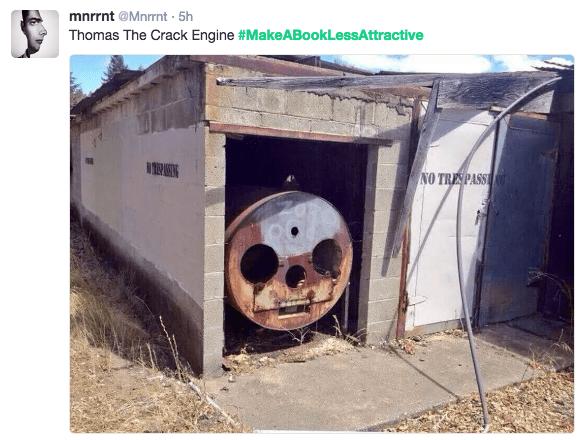 book pun - Skull - mnrrnt @Mnrnt 5h Thomas The Crack Engine #MakeABookLessAttractive NPANG NO TRESPASS