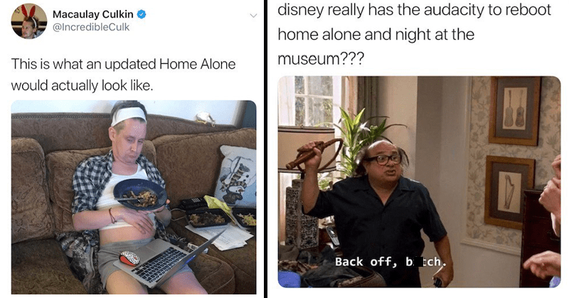 Funny twitter reactions to Disney remake of Home Alone, tweets from Macaulay Culkin.