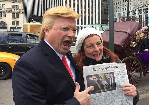 donald trump impersonator hires bodyguards