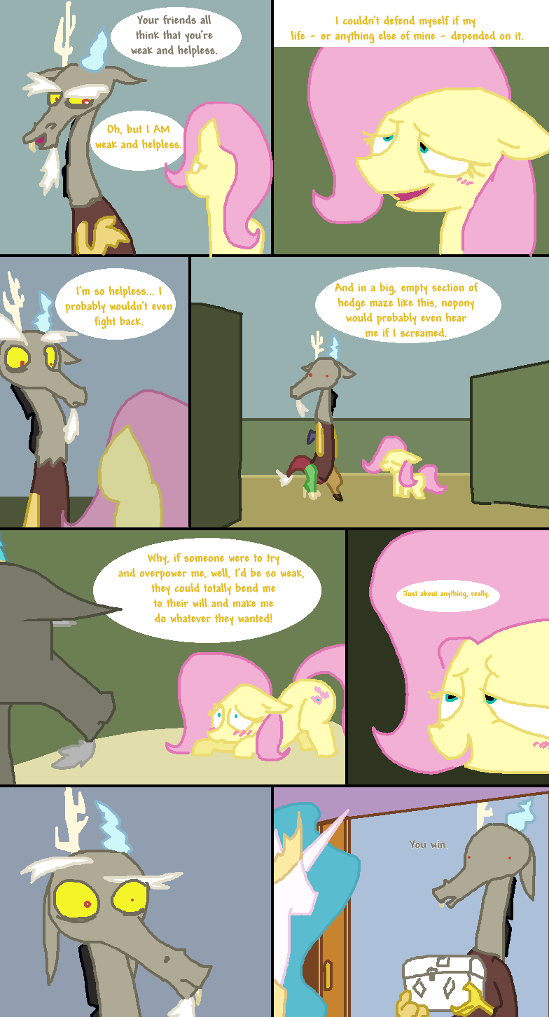 discord,comic,princess celestia,fluttershy,the return of harmony