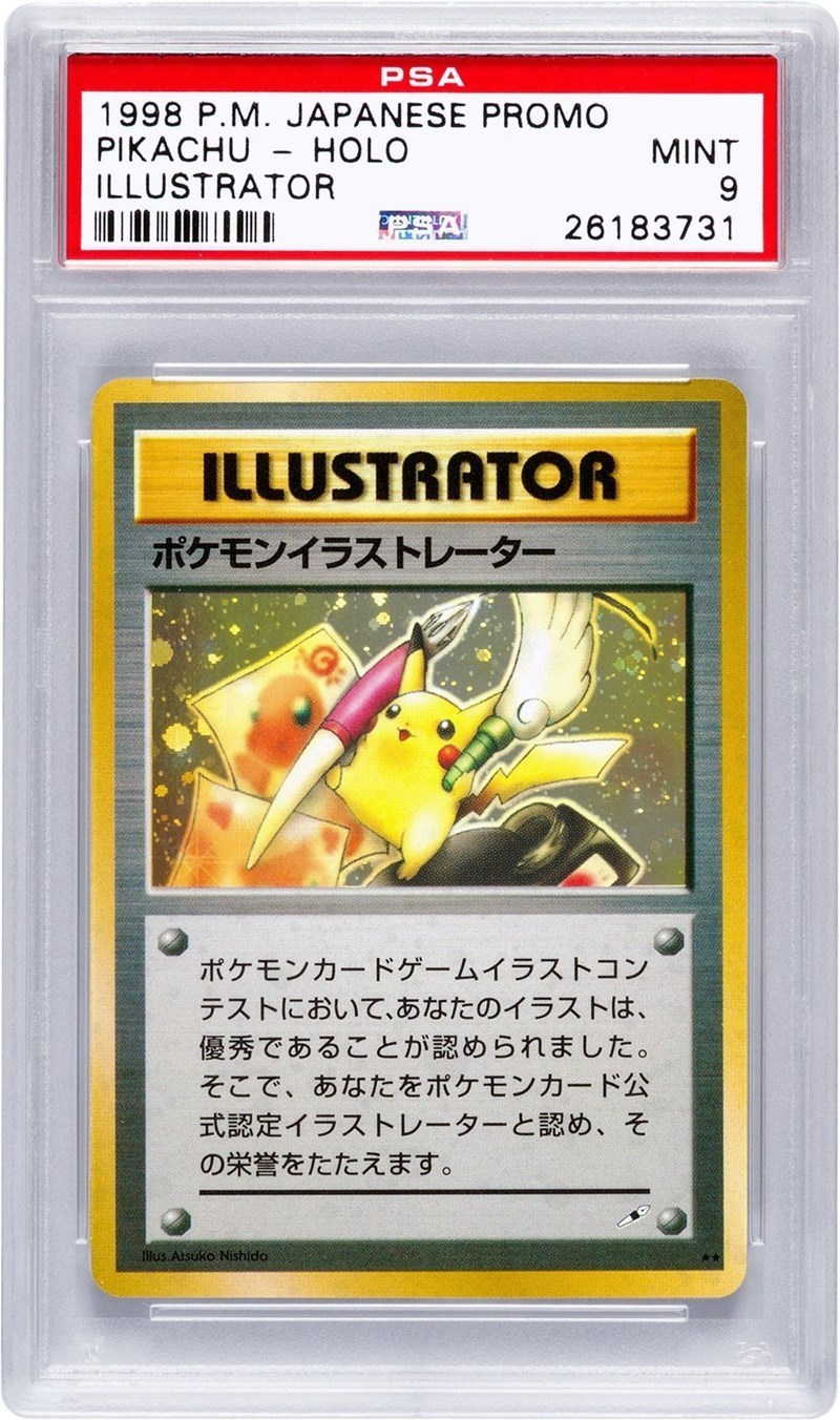rare pikachu pokemon card sells at auction for more than 50000