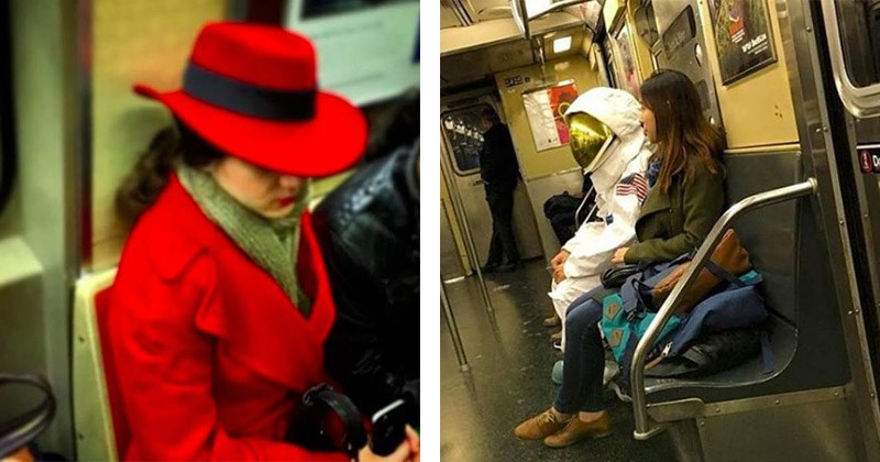 Funny and strange pictures of things on the subway
