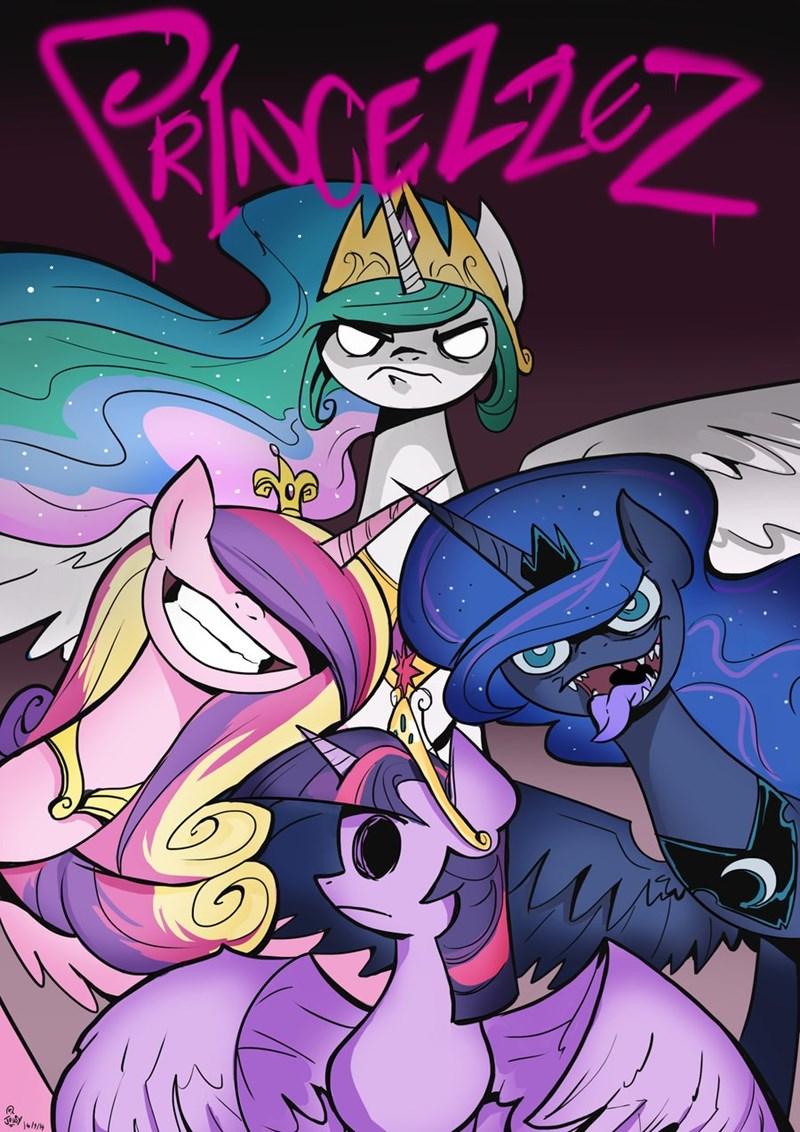 Gorillaz princess cadence twilight sparkle princess luna princess celestia - 8991524096