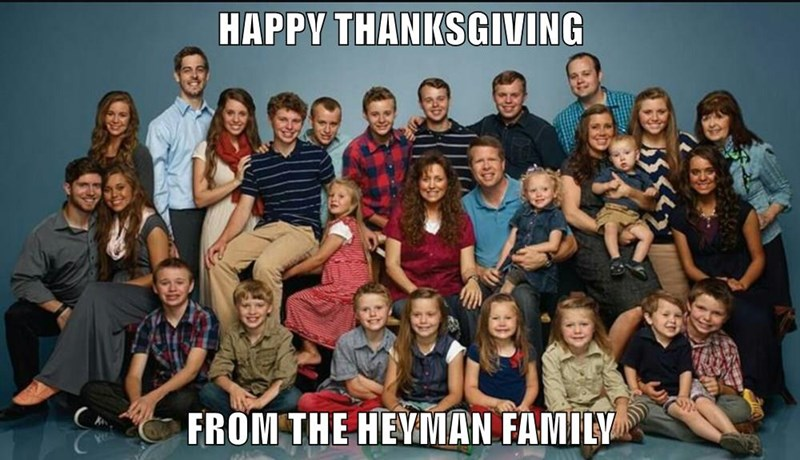 HAPPY THANKSGIVING  FROM THE HEYMAN FAMILY