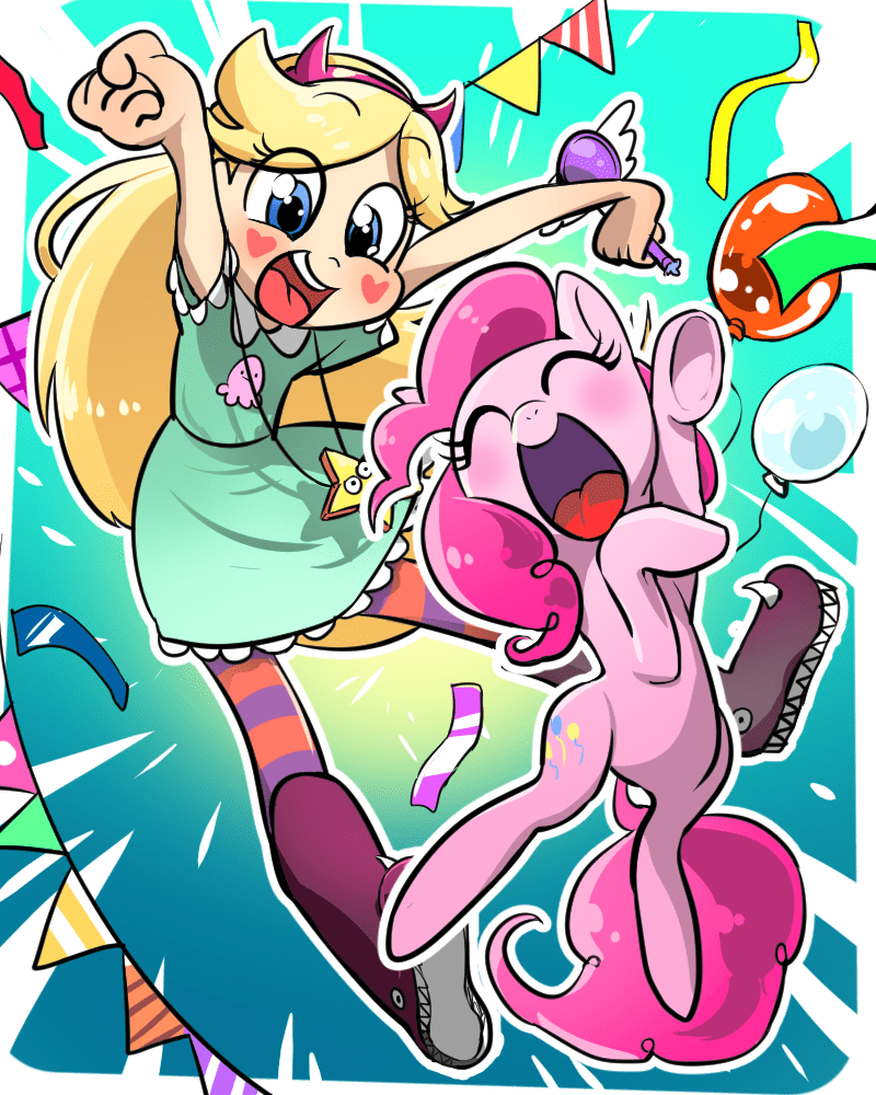 crossover star vs the forces of evil pinkie pie - 8991848448