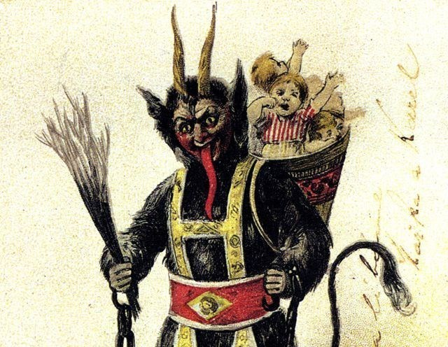 austrian krampus festival celebrates goat demon with 100 krampus costumes