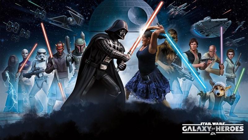 Cg artwork - STAR WARS GALAXYO HEROES