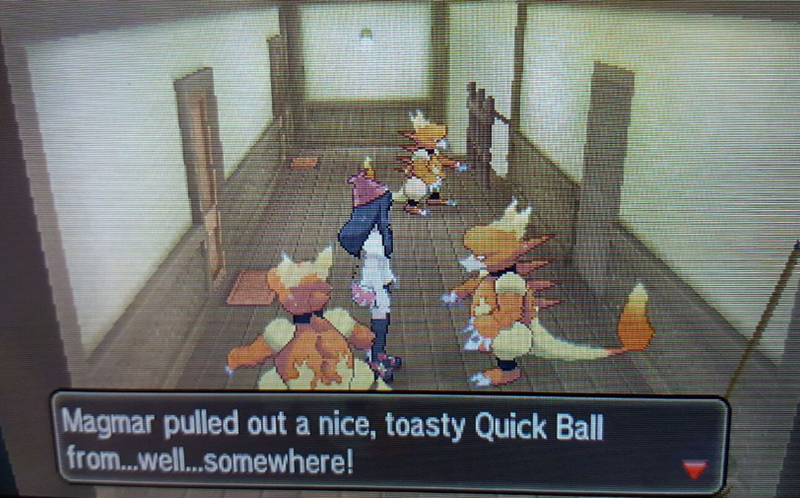 Pc game - Magmar pulled out a nice, toasty Quick Ball from...well...somewhere!