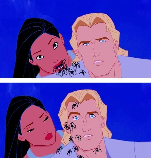 spiders disney wtf pocahontas - 8992965376