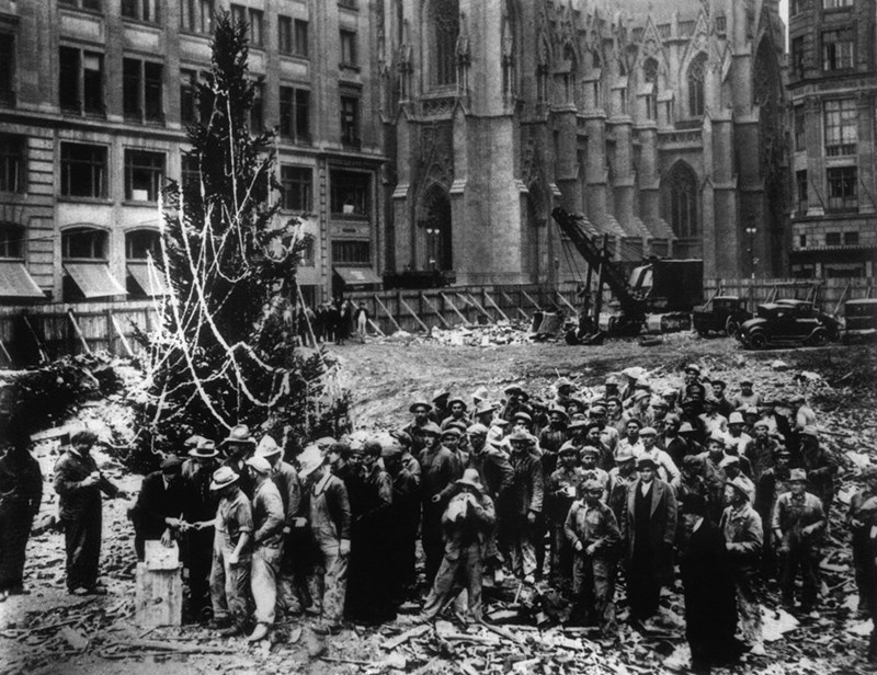 The First Rockefeller Christmas Tree Was a Real Charlie Brown Tree
