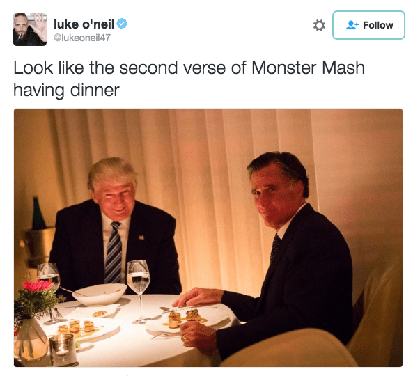 Trump meme about matching the lyrics of the song Monster Mash