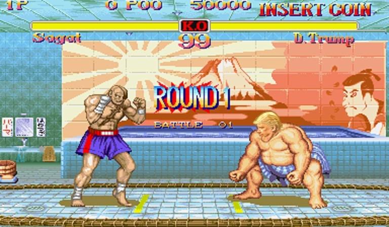 Pc game - 50000 INSERT COIN K.O 99 Sussat DTrunp ROUND BATTLE Fept