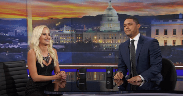 trevor noah owns tomi lahren on the daily show colin Kaepernick doland trump