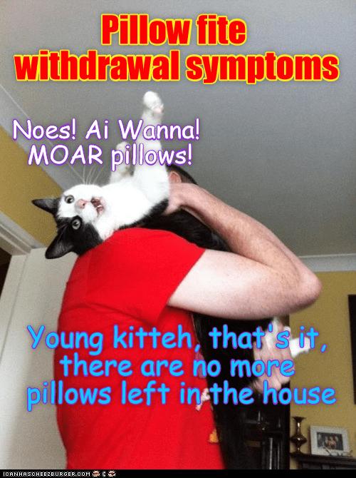 Pillow fite withdrawal symptoms