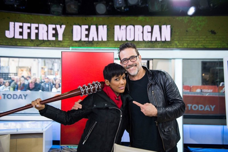 Jeffery Dean Morgan on a talk show.