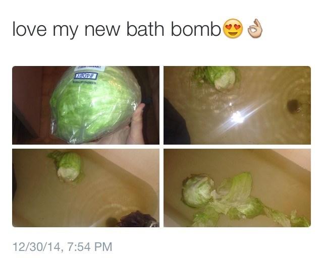 lettuce bath bomb Memes - 8993656064