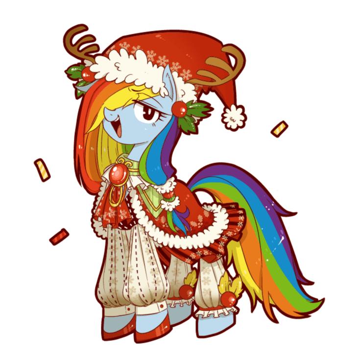 christmas hearths-warming-eve rainbow dash - 8993922048