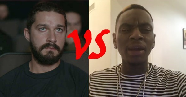soulja boy beefs with shia labeouf from transformers over rap charlamagne the god