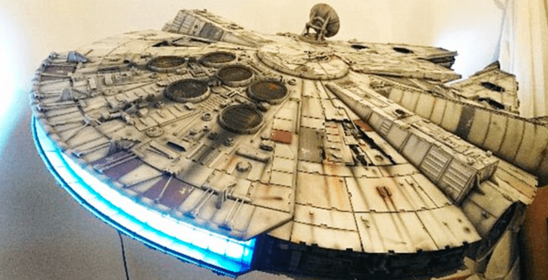 star wars fan spends 10 years on millennium falcon replica ahead of rogue one