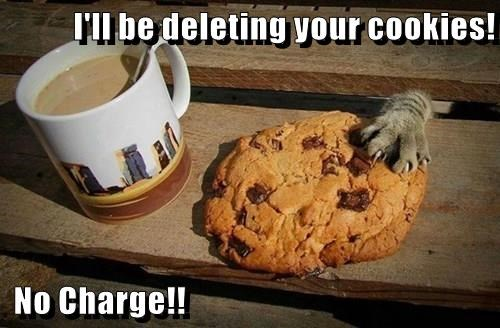 I'll be deleting your cookies!   No Charge!!