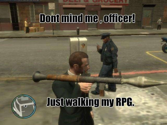 Pc game - Dont mind me,officer! Justwalking my RPG
