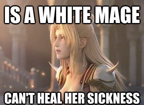 Blond - ISA WHITE MAGE CAN'T HEAL HER SICKNESS
