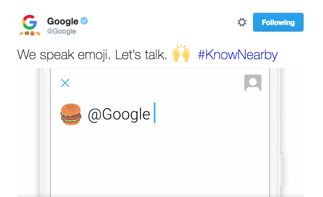 google can interpret emoji on twitter to find food