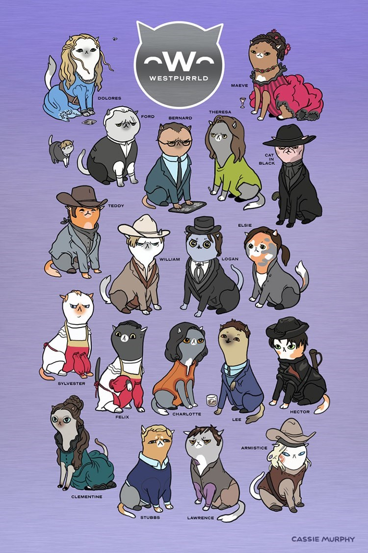 westworld characters as cats