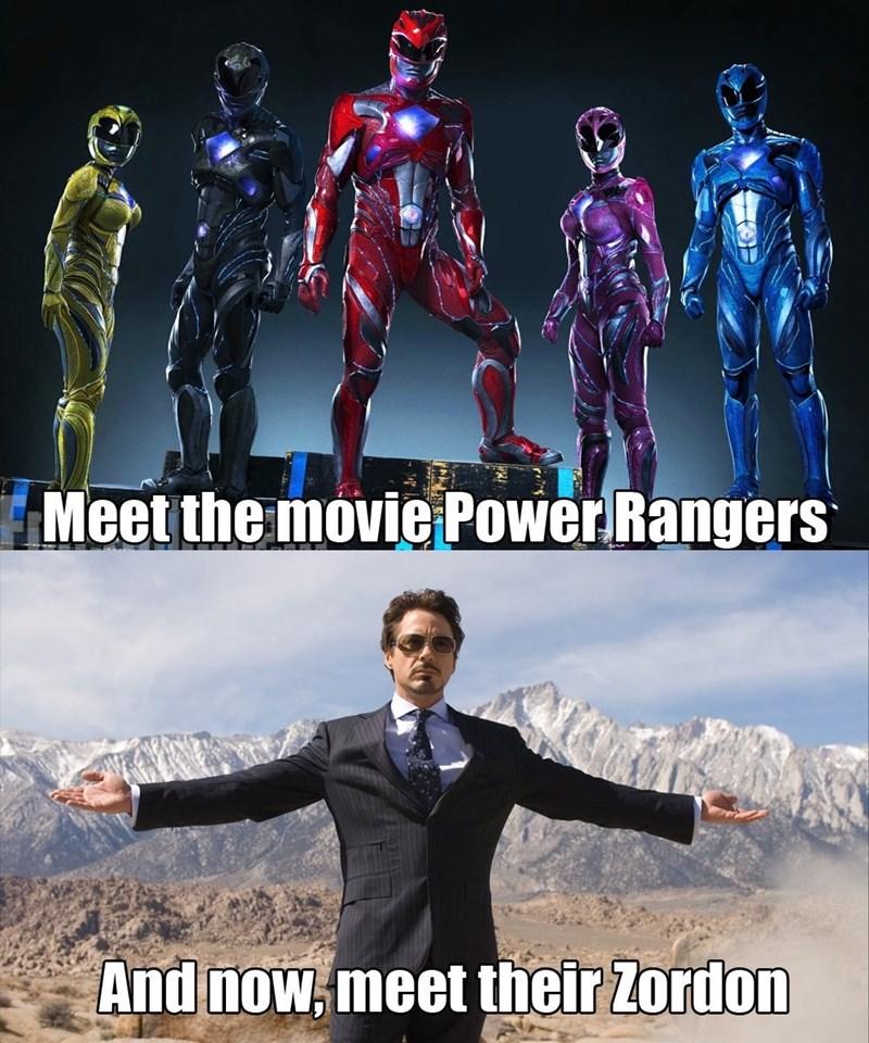 Fantastic four - Meet the movie Power Rangers And now, meet their Zordon